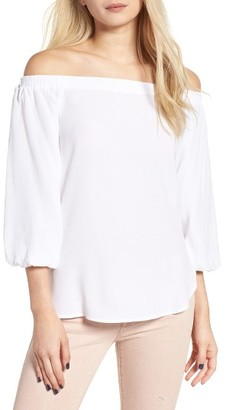 Women's Soprano Bubble Sleeve Off The Shoulder Top $45 thestylecure.com