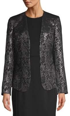 Calvin Klein Petite Metallic Jacquard Jacket