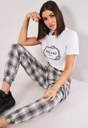 Missguided White Milano Fitted Crew Neck T Shirt