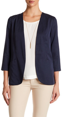 Harlowe & Graham Open Front 3/4 Sleeve Easy Blazer $98 thestylecure.com
