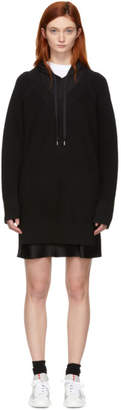 Alexander Wang Black Bi-Layer Hooded Dress
