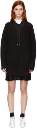 Alexander Wang Black Bi-Layer Hooded Dress