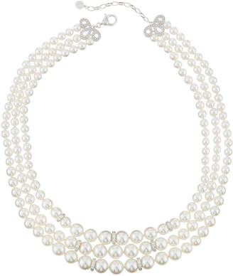 Majorica Triple-Strand Pearly Necklace