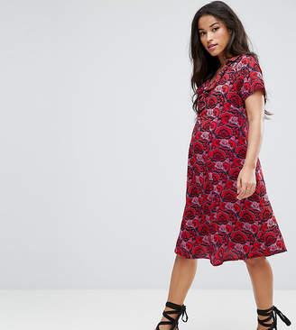 Mama Licious Mama.licious Mamalicious Bold Printed Dress