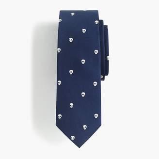 J.Crew Boys' silk tie in skull print