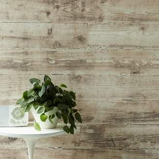 west elm Sepulveda Shiplap Mural Removable Wallpaper - Taupe