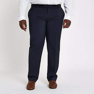 River Island Big and Tall navy slim fit suit pants