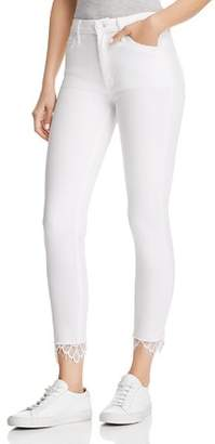 Mother The Looker High Rise Dagger Ankle Jeans in Glass Slipper