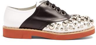 Miu Miu Stud-embellished lace-up leather shoes