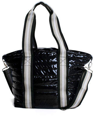 Think Royln Junior Wingman Glossy Quilted Tote Bag