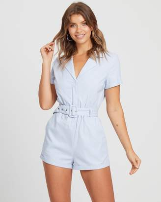 Atmos & Here ICONIC EXCLUSIVE - Linen Blend Belted Playsuit