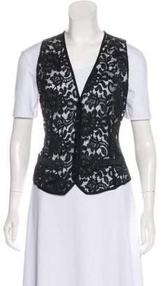 Dolce & Gabbana Lace Button-Up Vest