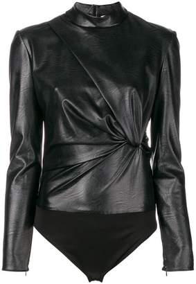 Stella McCartney faux-leather bodysuit