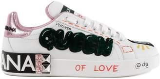 Dolce & Gabbana Queen Applique Sneakers