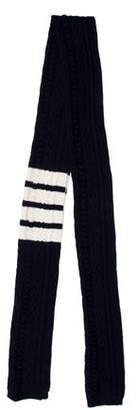 Thom Browne Cashmere Patterned Scarf
