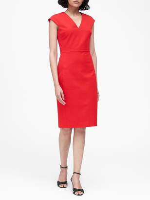 Banana Republic Petite Bi-Stretch V-Back Dress