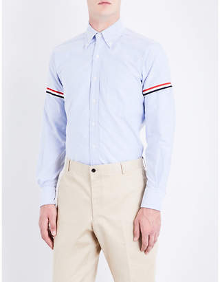 Thom Browne Signature-stripe armband regular-fit cotton shirt