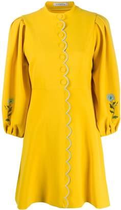 VIVETTA scallop-trim floral dress