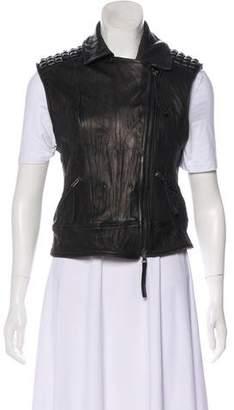 Elizabeth and James Studded Leather Vest