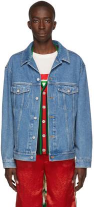 Gucci Blue Denim Band Jacket