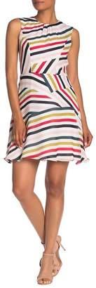 Milly Anna Striped Sleeveless Silk Dress