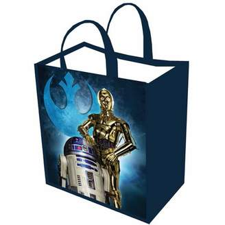 Star Wars PERRAULT AND ASSOCIATES Unisex-Adult Reusable Shopping Tote Or Halloween Trick Or Treat Bag - R2d2 C3po