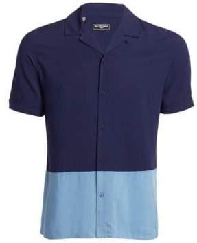 Saks Fifth Avenue MODERN Colorblock Camp Shirt
