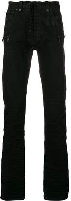Unravel Project skinny lace-up jeans