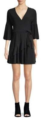French Connection Tied Asymmetrical Ruffle Dress