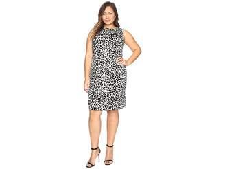 MICHAEL Michael Kors Size Sleeveless Cheetah Yoke Dress Women's Dress