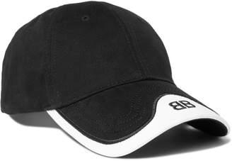 Balenciaga Logo-Embroidered Cotton-Twill Baseball Cap - Men - Black