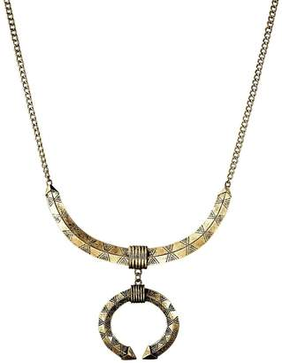 Macy's Etched Crescent Open Circle Disc Pendant Necklace