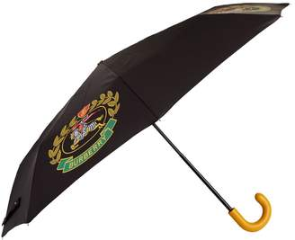 Burberry Leather Handle Crest Umbrella