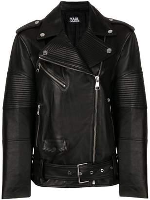 Karl Lagerfeld oversized biker jacket