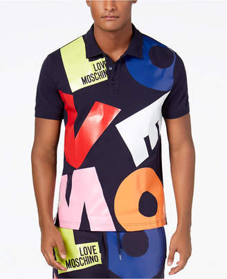 Love Moschino Men's Graphic-Print Polo