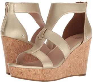 UGG Whitney Metallic Women's Wedge Shoes