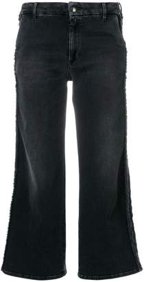 The Seafarer frayed trim cropped jeans