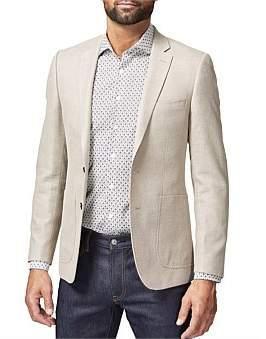 Simon Carter Wool Linen Plain Hopsack Jacket