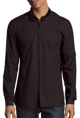 The Kooples Lambskin Collar Sportshirt