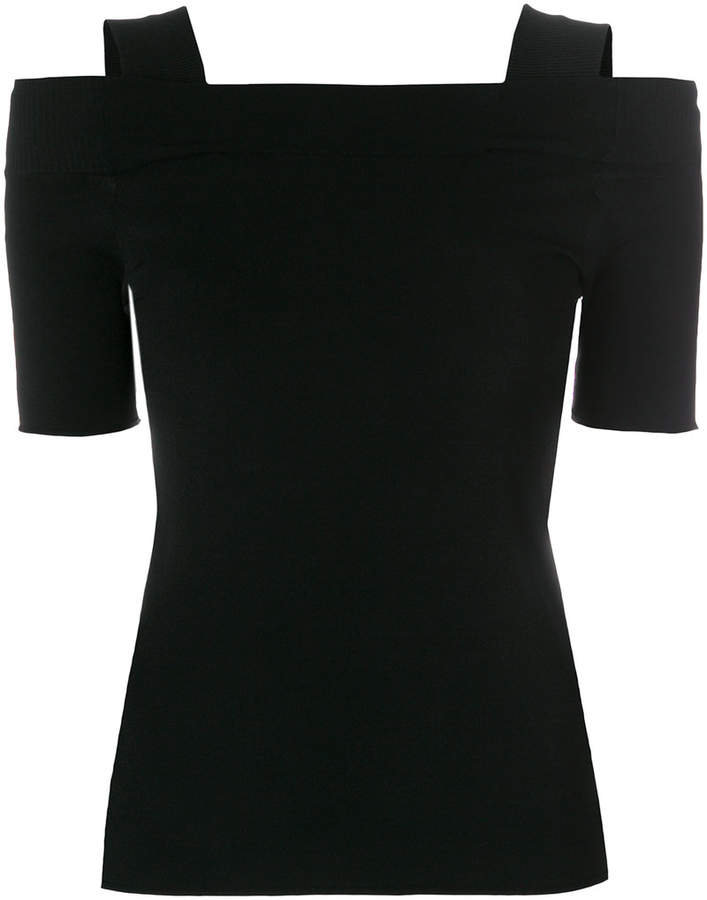 off-shoulder knitted top