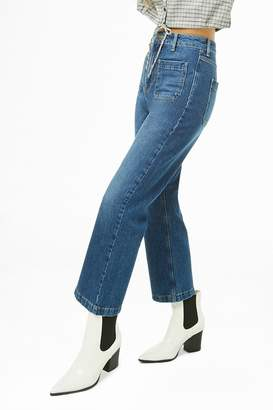 Forever 21 Patch Pocket Jeans