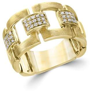 Bloomingdale's Diamond Link Band in Brushed 14K Yellow Gold, .20 ct. t.w. - 100% Exclusive