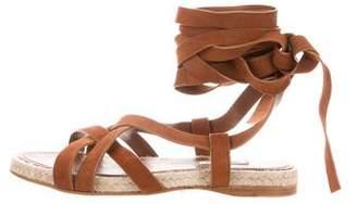 Miu Miu Caged Lace-Up Sandals