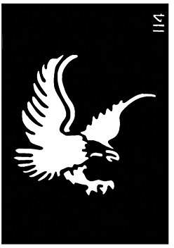 """Ongles d'Or Body Stencil (3"""" x 4"""") (Eagle)"""