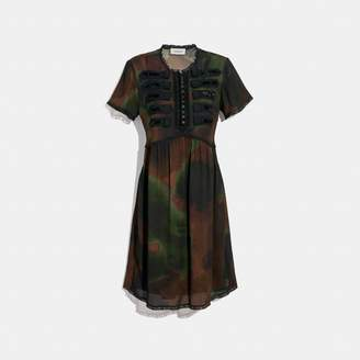 Coach Tie Dye Print Military Dress
