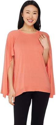 Halston H By H by Sweater Knit Cape Top
