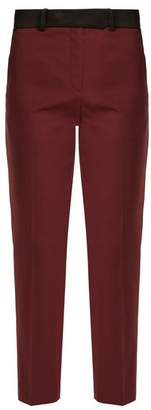 Racil - Roxburgh Slim Leg Wool Trousers - Womens - Burgundy