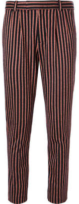 Gucci Slim-Fit Striped Wool And Cotton-Blend Suit Trousers $790 thestylecure.com