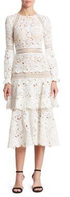 Oscar de la Renta Tiered Lace Dress $5,690 thestylecure.com