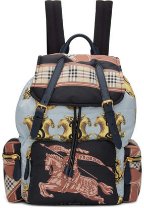 Burberry Multicolor Large Archive Scarf Print Backpack